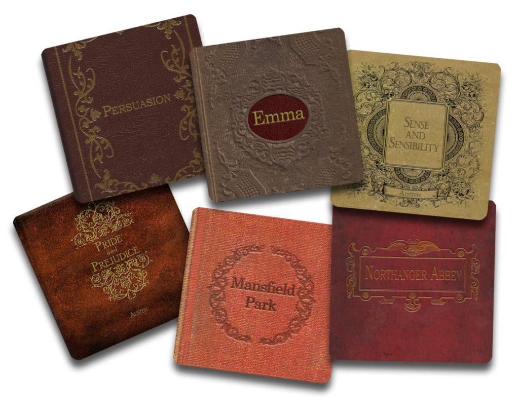 Jane Austen Book Coasters