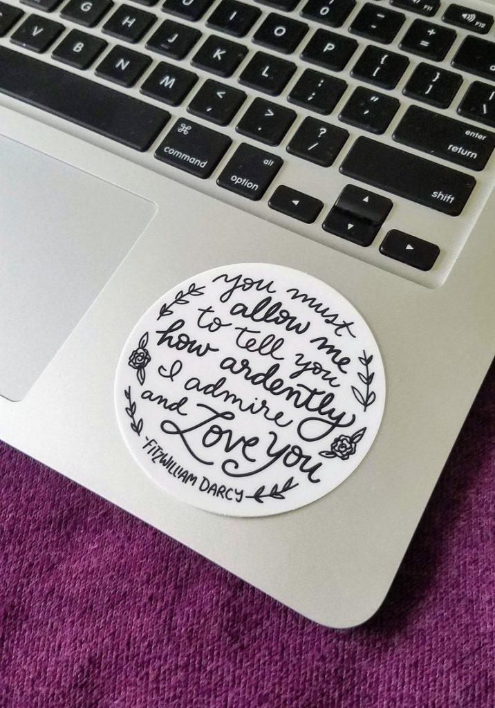 Mr Darcy Proposal Sticker